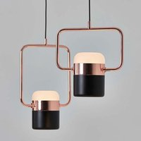 Wholesale wrought plate resale online - New postmodern led pendant lights plated rose gold wrought iron nordic simple suspension lamp dining room bedroom hanglamp light