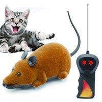 детские игровые комплексы оптовых-Мыши Игрушки Беспроводной Rc Мыши Игрушки для Кошек Пульт Дистанционного Управления Ложная Мышь Новинка Rc Cat Смешно Играют Мыши Игрушки Для Кошек