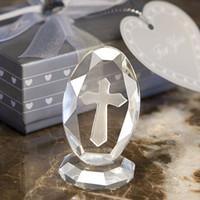 hochzeit bevorzugungsfiguren groihandel-Großhandel Crystal Collection Kristall Kreuz Figuren Geburtstag Andenken Religiöse Party Zubehör Hochzeit Favor Geschenk Freies Verschiffen