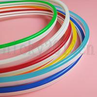 Wholesale 12v orange resale online - Super Bright V LED Neon Tube Flex Strip Rope Light Silica Gel mm mm LEDs m IP67 Waterproof for Club Advertising Sign DIY