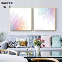 Wholesale natures pictures for sale - Group buy HAOCHU The beauty of the Nature Letter Decor Picture Simple Color Leaf Canvas Painting For Study Corridor Living Room Posters