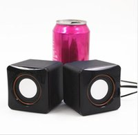 Wholesale Cheap W USB Portable Computer Speakers USB Stereo Combination Speakers with mm Jack USB Powered Subwoofer PC Speaker