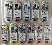 Wholesale skulls earphones resale online - hot sell skullcand INKD in ear earphones with microphone color in stock wired headphones earbuds with retail package skull for iphone