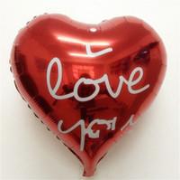 tag schwimmen großhandel-Valentines Day Balloon Heart Shaped Ballute Lovers Courtship Metallic Balloons Jubilant Verzieren Heiraten Ich liebe dich Float 0 45mt C1