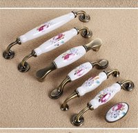 Wholesale ceramic kitchen drawer handles for sale - Group buy European style ceramic handle mm for Kitchen and Bathroom Cabinets Dresser Cupboards Drawers Shutters