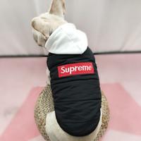 camisola de pelúcia venda por atacado-Cão roupas cão hoodies pet roupas para cães casaco casacos de algodão outono e inverno pet roupas cão camisola schnauzer Teddy roupas de algodão
