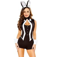 Wholesale hot lady cosplay resale online - Cosplay Piece Set Hot Sexy Ladies Costume Adult Tuxedo Halloween Cosplay Uniform Suit Theme Costume