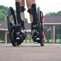 patinaje sobre ruedas al por mayor-Calle exterior Freeline monopatín Slip Roller Skates de goma de 20 pulgadas 2 ruedas grandes Patinaje en línea tamaño de los zapatos para adultos 37-45 TF-01