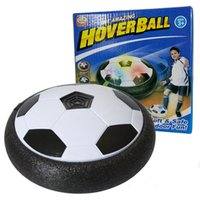 Wholesale glide ball resale online - LED Light Flashing Soccer Ball Football Toys Novelty Games Hovering Air Power Disc Gliding Game Toy Kid Chidren