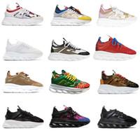 легкая обувь оптовых-Цепная реакция sneakes дизайнер кроссовки мужские женщины спортивная обувь кожа Повседневная обувь тренер легкая подошва с коробкой