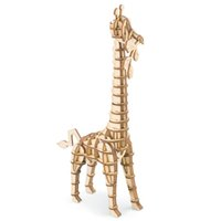 Wholesale wooden giraffe toys online - D wooden puzzle game toy hobbies model building kits for children educational baby amp toddler popular toy Giraffe TG206