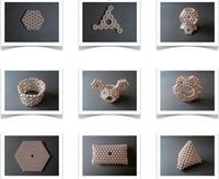 bola magnética 5mm al por mayor-Imán mágico Ustore8 coloridas 216 PC 5mm bolas magnéticas neo perlas de cubo del neodimio de descompresión de cumpleaños del juguete Neokub presentes para los niños de juguete
