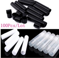 Wholesale wholesale container lip online - 100Pcs empty lip gloss tubes empty cosmetic containers Lipstick Jars Balm Tube Caps Container maquiagem travel Makeup Tools ml