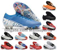 Wholesale spike bands for sale - Group buy 2019 Hot Men Mercurial Vapors XIII Elite FG CR7 Ronaldo Neymar NJR SHHH Low Ankle Soccer Football Shoes Size