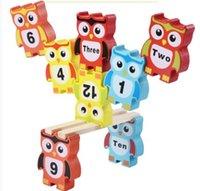 yığın oyunu toptan satış-Blok Aksesuarları suzakoo yapı taşı istifleme blok karikatür baykuş hayvan dengesi oyun oyuncak