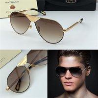 gafas de sol de alta marca al por mayor-Gafas para hombre de lujo superior marca THE LINEART gafas de sol de diseñador Maybach cuadradas K marco dorado de alta calidad gafas uv400 para exteriores con caja