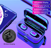 Wholesale faster bluetooth headset resale online - G6S tws in earphone wireless earphone portable earphone headphone with LED power dispaly support wireless fast charging