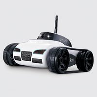 Wholesale toy control camera resale online - Rc Car With Camera Wifi Remote Control Toy Tank Fpv Camera Support Ios Android Iphone Ipad Ipod Controller Gift Fswb