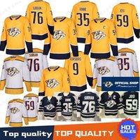 нэшвилл хоккей оптовых-76 П.К. Трикотажные изделия Piska Rinne 92 Pyan Rinne 92 Ryan Johansen 59 Roman Josi 100% сшито