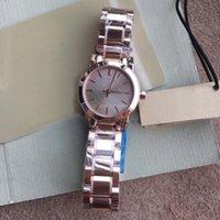 браслеты для батареек оптовых-Мода 26MM Женские часы Кварцевые батареи Женские часы Wriswatches Розовое золото Руки и циферблат с браслетом из розового золота