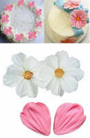 Wholesale new chocolate molds resale online - New Bar Chrysanthemum Flower Petals Shape Silicone Mold Fondant Chocolate cake tools Baking Cookie Moulds Decorating Molds