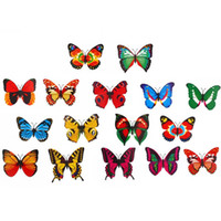 Wholesale double butterfly toy resale online - 70pcs Animal Explorer Simulation Double Wing Artificial Butterfly PVC Butterflies Action Figure Playset Animal Model Toys for kids