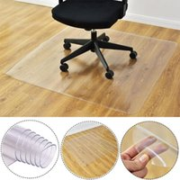Discount pvc flooring rolls Transparent Nonslip Rectangle Floor Protector Mat Self Adhesive for Home Office Rolling Chair Furniture Table Feet Supplier