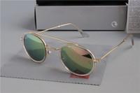 Wholesale aviators sunglasses blue lens resale online - Luxury Ray Polarized Sunglasses Men Women Pilot Sunglasses UV400 Eyewear Aviator Glasses Driver Bans Metal Frame Polaroid Lens box