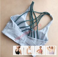 Wholesale free set clothes resale online - DHL Free Bra Women High Support Yoga Set Fitness Clothing Sportswear Light Ladies Gym Bra Comfort