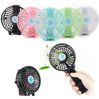 luftkühler mini fan porzellan großhandel-USB 18650 Akku Wiederaufladbarer Lüfter Belüftung Faltbarer Klimaanlagenlüfter Faltbarer Kühler Minibetriebener Handlüfter für zu Hause
