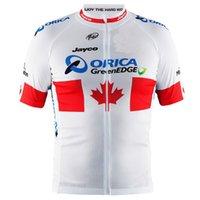 camisas de ciclismo orica venda por atacado-2015 ORILE GREENEDGE PRO EQUIPE CANADÁ VERMELHO BRANCO SOMENTE ROUPA ROUPA CAMISA CICLISMO CICLISMO JERSEY CICLISMO DESGASTE TAMANHO: XS-4XL