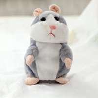 Wholesale talking plush toy hamster for sale - Group buy 15 cm cute talking hamster toys electric learning to talk recording electric hamster stuffed with plush toys can talk and walk