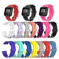 нейтральные полосы запястье оптовых-Сменные силиконовые ремешки Fitbit Versa / Versa Lite Часы Интеллектуальный нейтральный классический браслет ремешок для ремешка для Versa 14 цветов