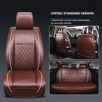 Wholesale hyundai ix35 accessories resale online - 3D Universal Car Seat Cover Breathable PU Leather Hyundai Elantra Seat Covers Seat Covers for Hyundai Santa Fe Creta ix25 ix35 Solaris