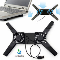 Wholesale china laptop cooling pad resale online - Rotatable USB Fan Cooling Pad Fans Cooler Notebook Cooler Computer USB Fan Stand For quot Laptop Computer Peripherals XNC
