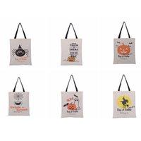 cadılar bayramı kaynakları pumpkins toptan satış-Cadılar bayramı çanta Hile veya Tedavi Kabak Kanvas Çanta handnbag Şeker Çanta Tote Cadılar Bayramı Dekorasyon Parti Malzemeleri ZZA1152