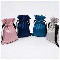 bolsas de joyas de poliester al por mayor-Bolso con cordón de poliéster Bolsas de regalo para el favor del banquete de boda Organizador de bolsas de joyas de caramelo