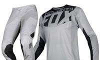 mx gear achat en gros de-NOUVEAU 2019 NAUGHTY FOX MX Racing Hommes Gris 360 Kila Dirt Bike Jersey Pantalon Kit Combo Motocross Dirtbike ATV Offroad Gear