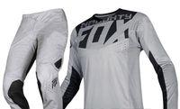 pantalones de carreras de motocross al por mayor-NUEVO 2019 NAUGHTY FOX MX Racing Hombres Gris 360 Kila Dirt Bike Jersey Pantalones Kit Combo Motocross Dirtbike ATV Offroad Gear