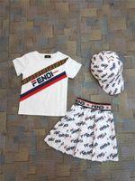 bebek ruffles toptan satış-Çocuklar Kızlar 2 adet Setleri Jumper Tops Tişörtleri + fırfır Etekler Bebek Kız Moda Yaz Toptan Giyim Çocuklar Ücretsiz Nakliye için Set Giydirin