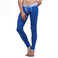 ingrosso pantaloni termici della biancheria intima dei pantaloni lunghi del manicotto-Modali Mens Intimo Lungo Mutandoni da Uomo Pantaloni Termici Pantaloni Aperti Anteriori Stretto Termica Inverno Thermo Legging Wangjiang