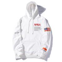 erkek x toptan satış-Toptan Amerikan ve Avrupa Hipster Heron Preston x NASA Tasarımcı Hoodie Genç Popülerlik Erkek Tasarımcı Giyim Eğlence Kazak
