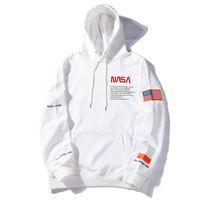 sudadera america al por mayor-Venta al por mayor de América y Europa Hipster Heron Preston x NASA Designer Hoodie Popularidad juvenil Mens Designer Clothing Ocio