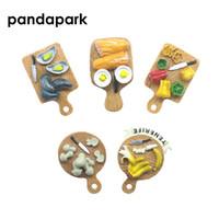 ingrosso resina di banana-magnete souvenir PANDAPARK 3D Resin Simulazione Magnete alimentare Souvenir Utensile da cucina Frigorifero Decorazione Messaggio Post Sticker Adesivo pane alla banana