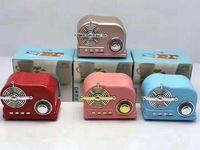 bluetooth hoparlörleri sevimli toptan satış-HiFi Retro Kablosuz Bluetooth Hoparlörler Radyo BT03 TF Kart Arayüzü Ile Yeni Retro Sevimli Mini Bas Bluetooth V4.2 Hoparlör Yenilikçi Hediye