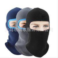 Wholesale full paintball masks for sale - Group buy by DHL Winter Breathable Warm Fleece Thermal Windproof Balaclava Paintball Combat Neck Full Face Mask Cap Helmets Hat