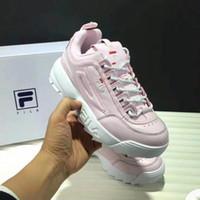 colores del pelo humano de malasia al por mayor-8FILA FL05 zapatos I 2 Zapatillas de deporte para mujer Zapatillas de deporte Blanco Rosa Verano Aumento de la zapatilla de deporte al aire libre Tallas grandes 36-40