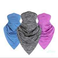 Wholesale scarf drop shipping for sale - Group buy 5PCS drop ship Quick Dry Cycling Scarf Summer Cool Ice Silk Half Face Masks Sun proof Triangular Bandage Outdoor Hat Wrist Guard LY514