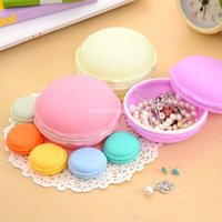 Wholesale boxed erasers for sale - Group buy Cute Candy Stationery Storage Box Jewelry Organizer Mini Macaron Case for Clips Eraser Table Decoration Fast Shipping
