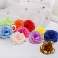 Wholesale flowers bouquet white roses for sale - Group buy New Artificial Rose Flower Heads cloth Decorative Flowers Party Decoration Wedding Wall Flower Bouquet White Artificial Roses Bouquet CM